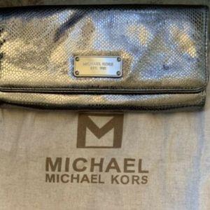 MICHAEL Michael Kors Silver Clutch